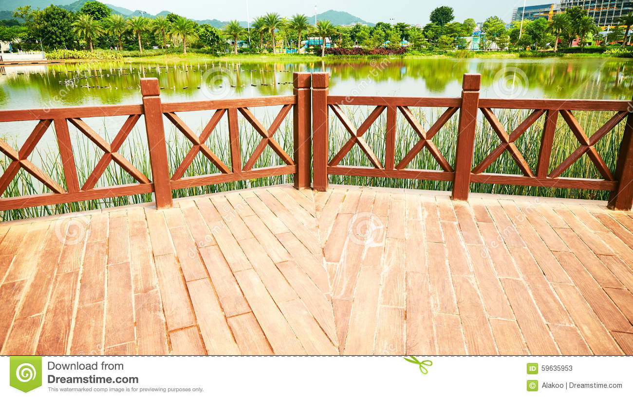 Wooden Outdoor Patio Wood Deck Stock Image Image Of Scape Outside