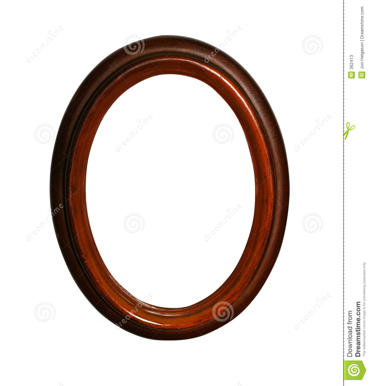 More similar stock images of ` Wooden oval frame with path `