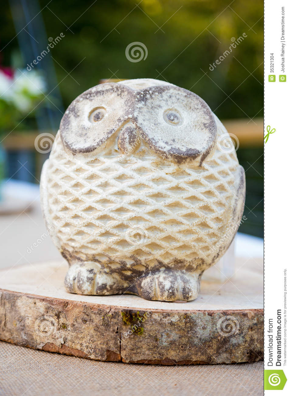 Wooden owl wedding decor stock images image