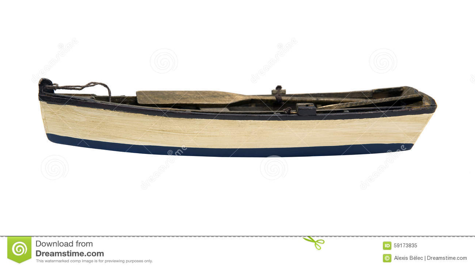 Wooden Paddle Boat Stock Photo - Image: 59173835