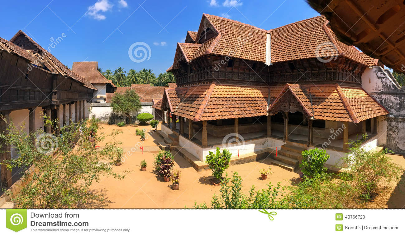 Wooden palace Padmanabhapuram of the maharaja in Trivandrum