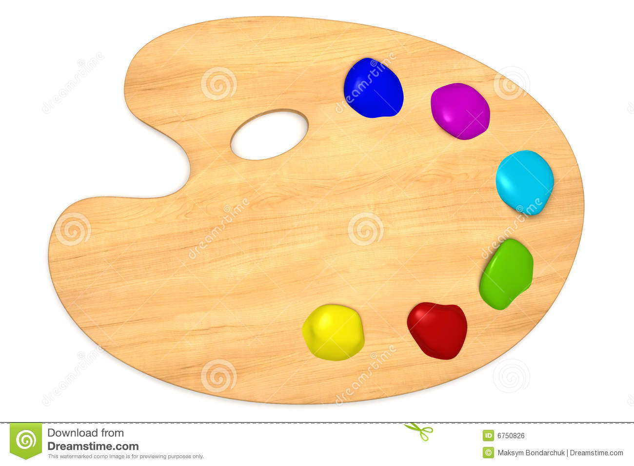 Wooden palette with color