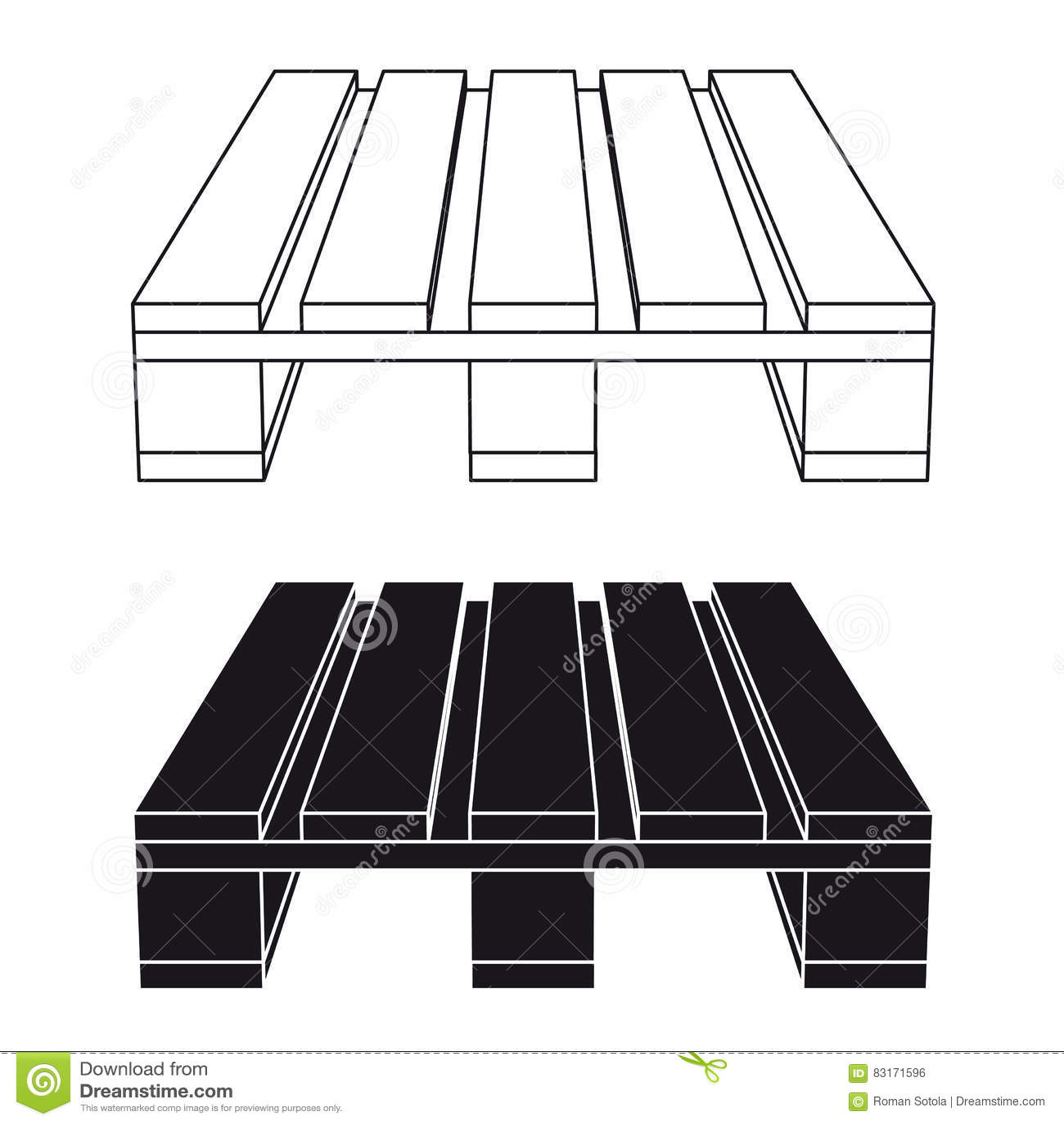 Wooden pallet black symbol stock vector illustration of crate wooden pallet black symbol biocorpaavc