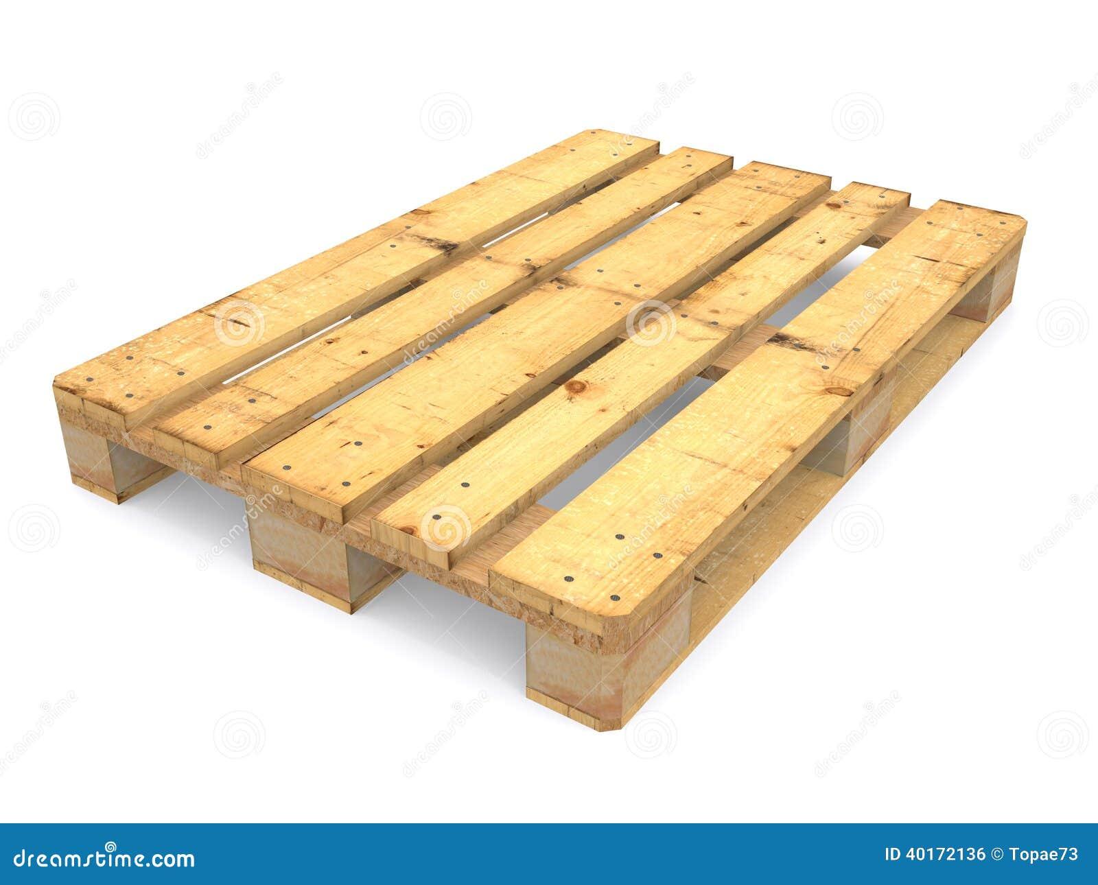 Wooden Pallet Stock Illustration