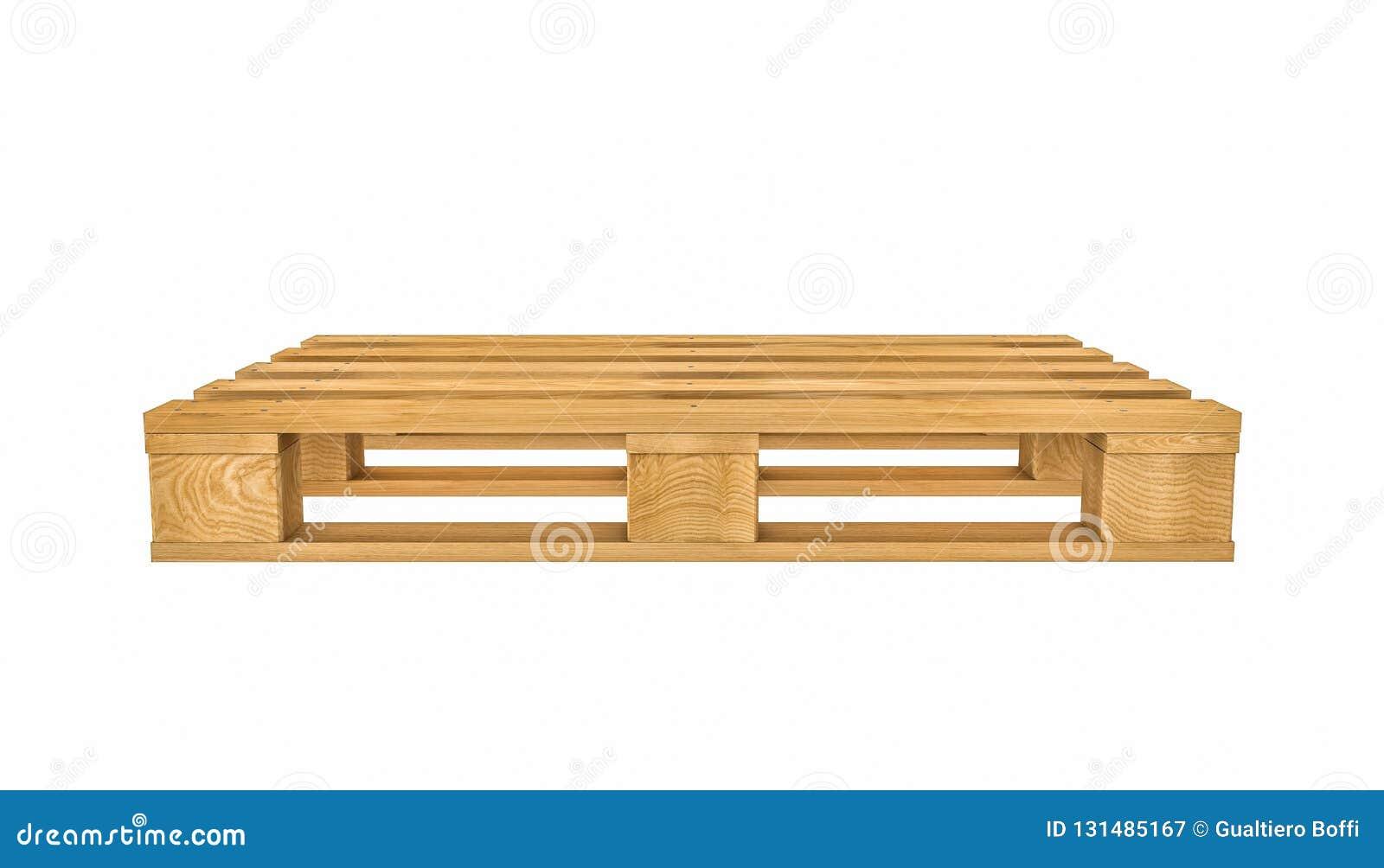 Wooden Pallet On White Background Stock Illustration