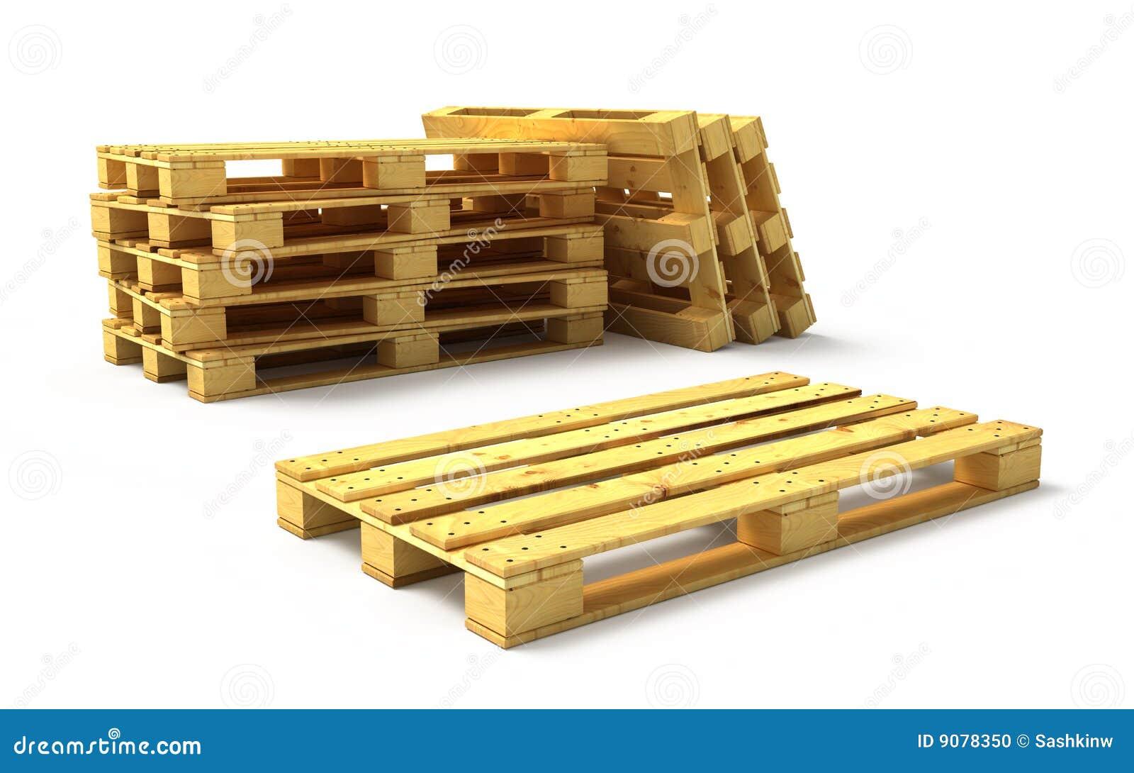 Wooden pallets stock illustration. Illustration of depot ...