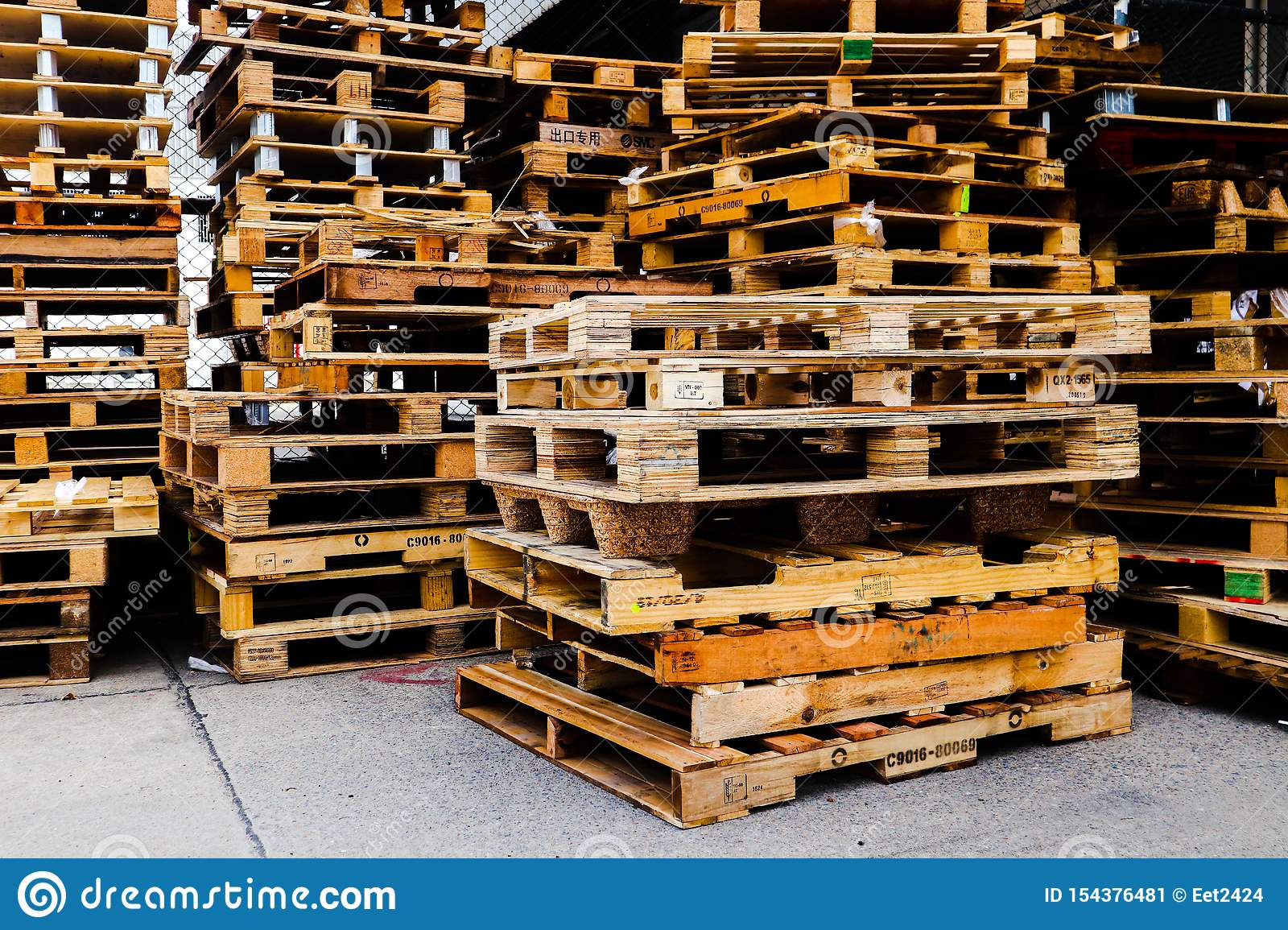 Warehouse industrial wooden products and wood materials
