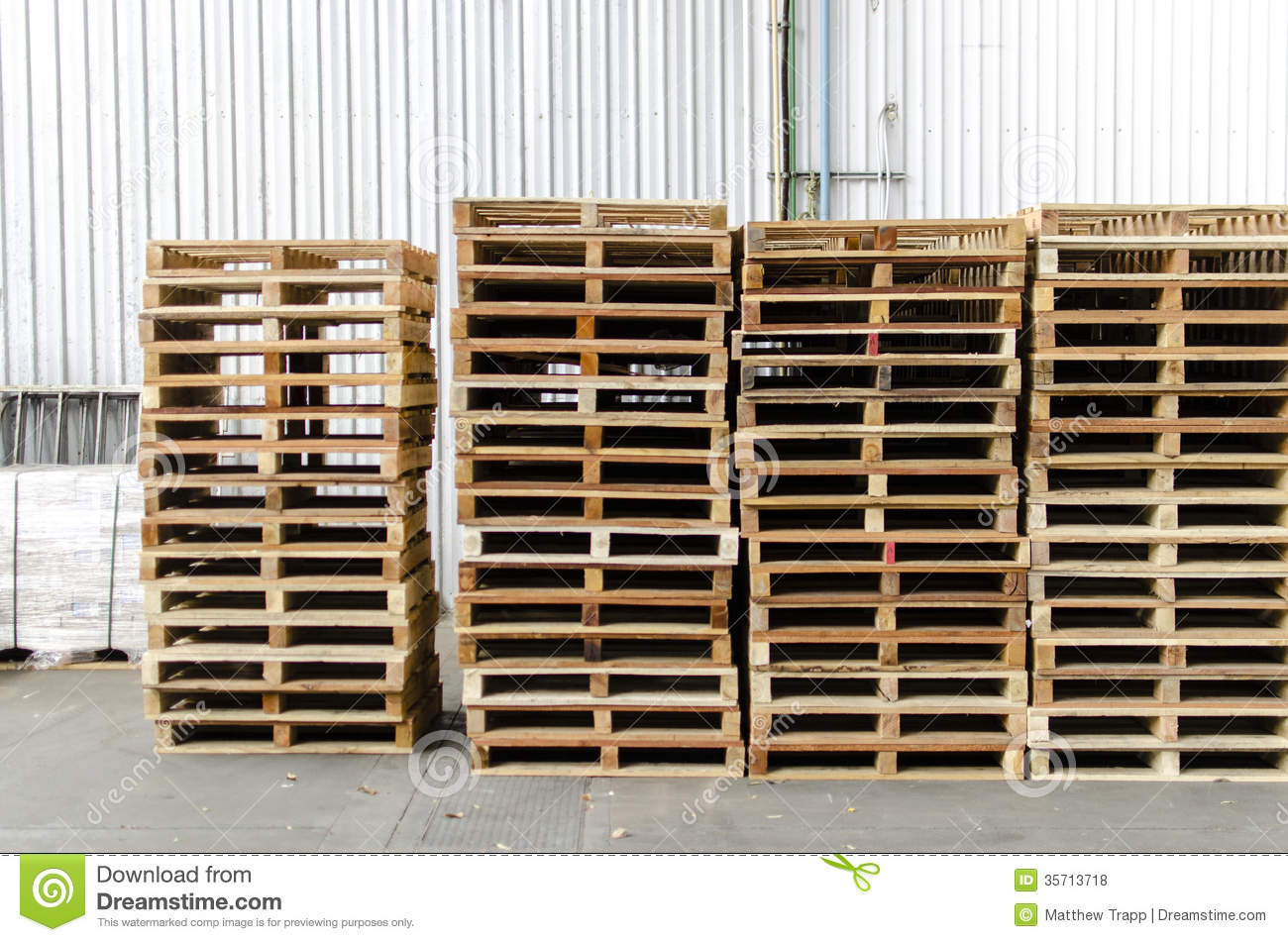 Wooden Pallets In Warehouse Royalty Free Stock Photos - Image ...
