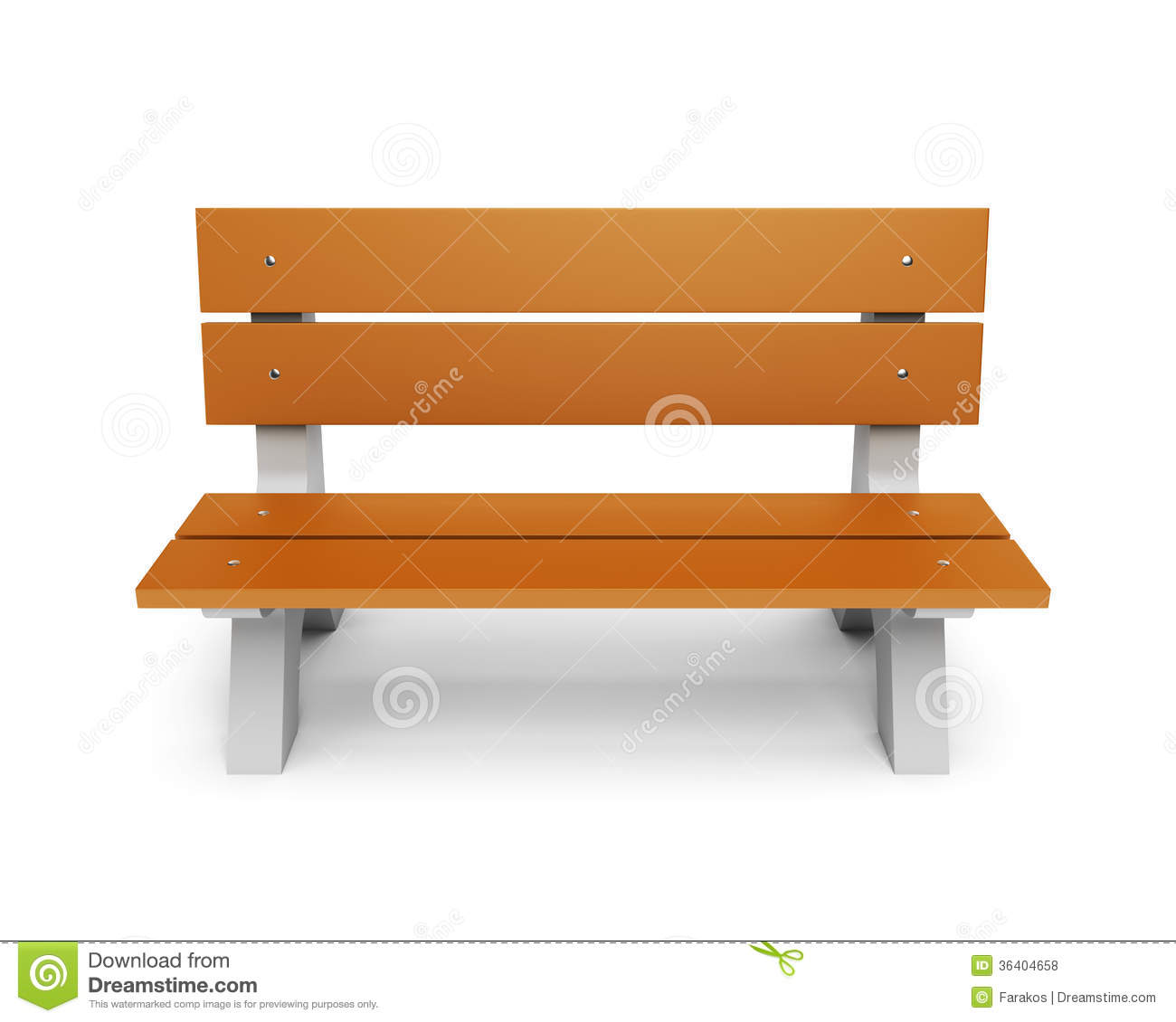 Wooden Park Bench Royalty Free Stock Photos - Image: 36404658