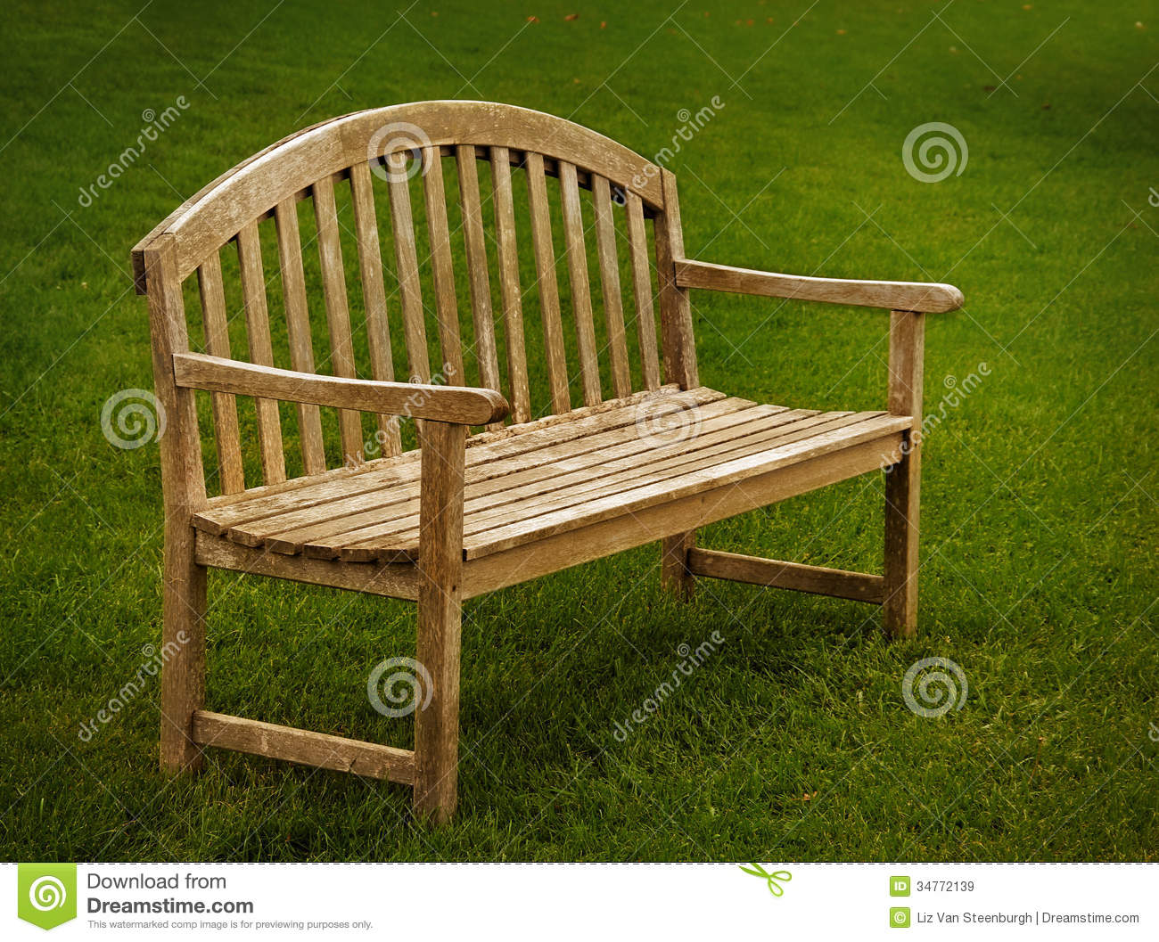 Wooden Park Benches ~ Wooden park bench stock image of garden