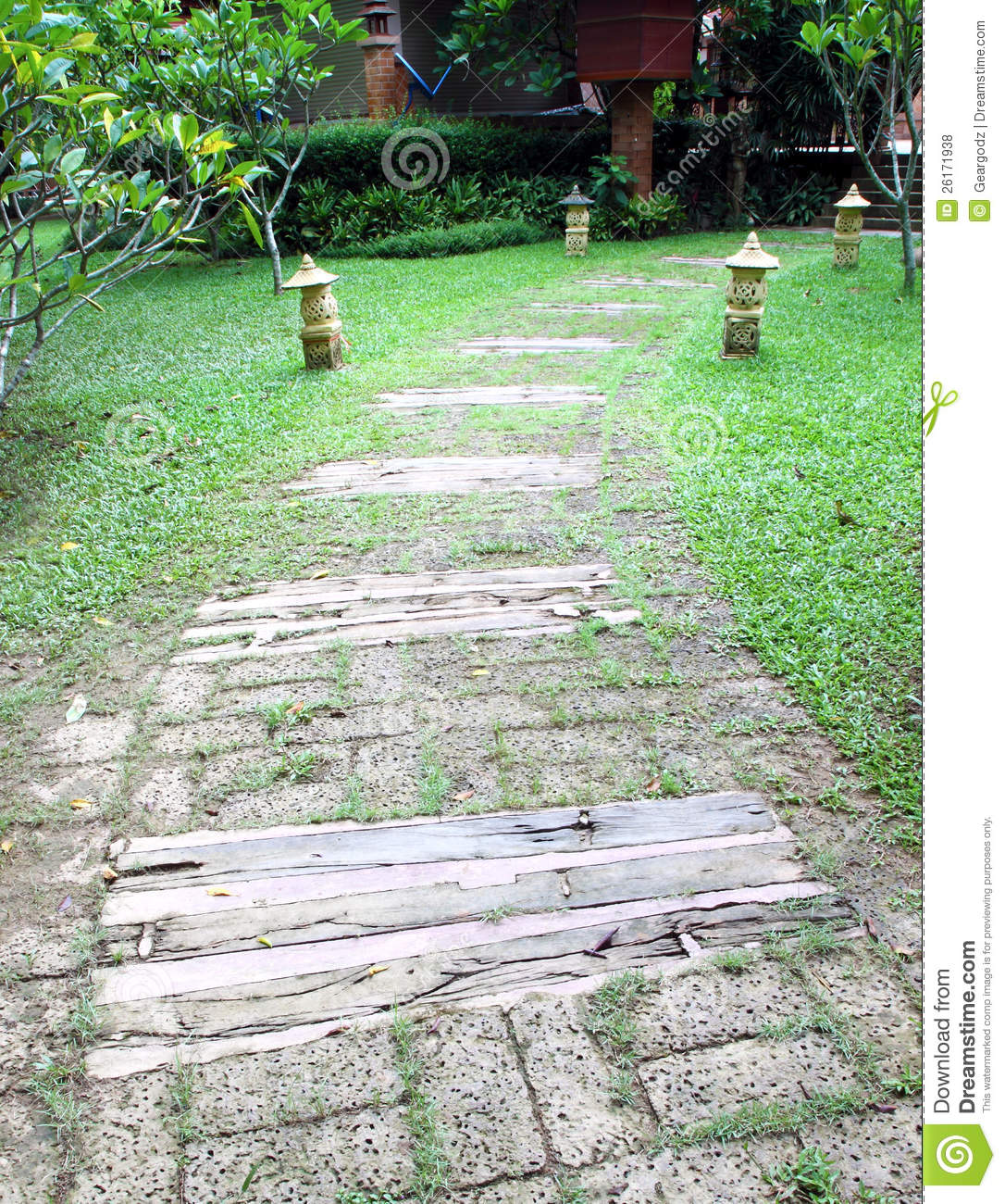 wooden pathway royalty free stock photos image 26171938