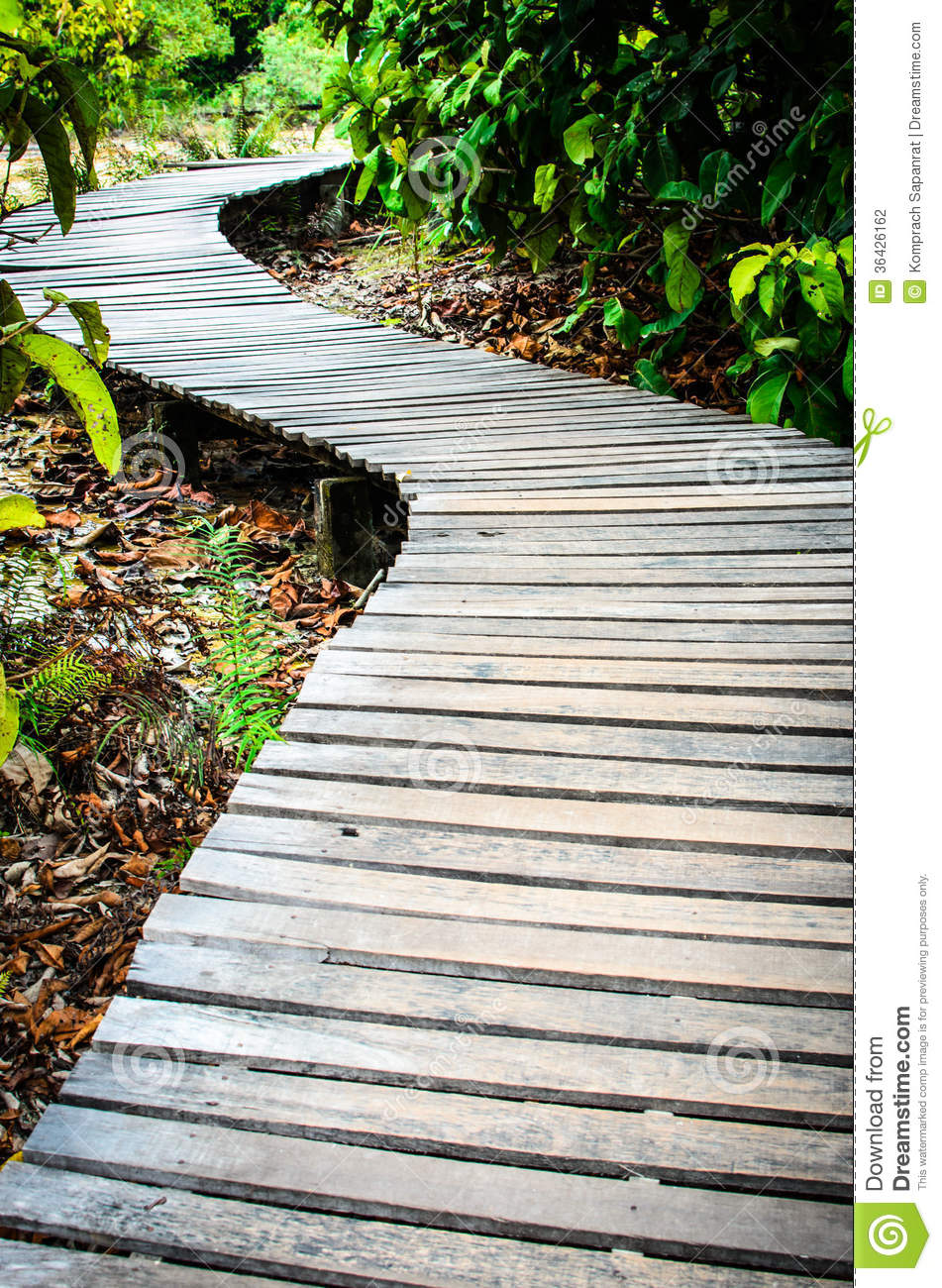 Wooden Pathway Stock Photography Image 36426162