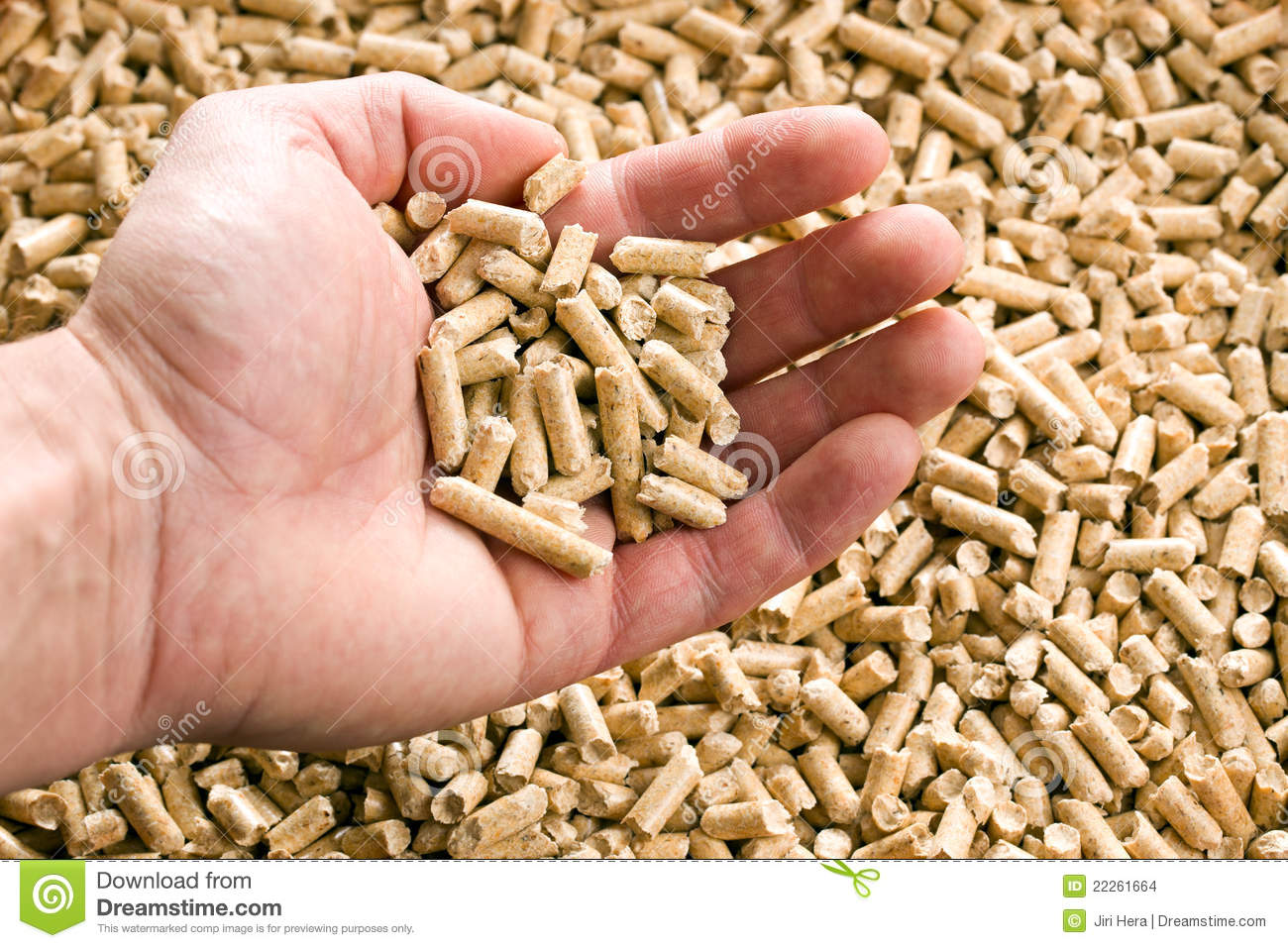 Wooden pellet ecological heating stock photo image