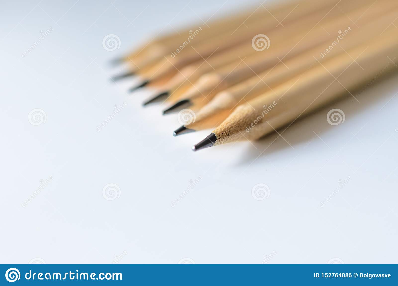 Wooden pencils for sketching and drawing closeup
