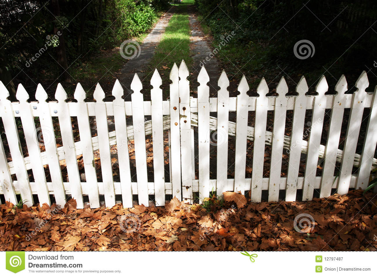 Wooden Picket Fence Gate Royalty Free Stock Photography