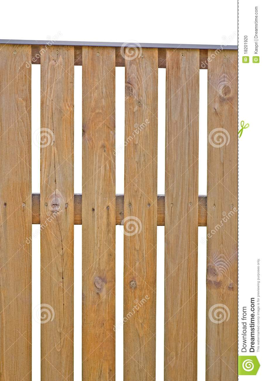 Wooden Picket Fence Isolated Vertical Closeup Stock Photo