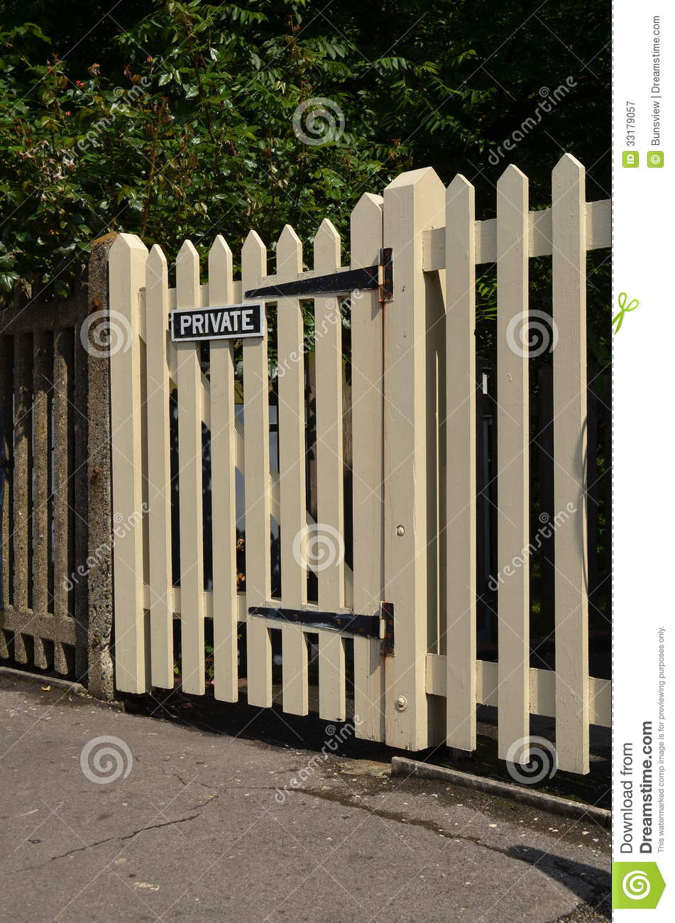 Wooden Picket Gate Royalty Free Stock Photography Image
