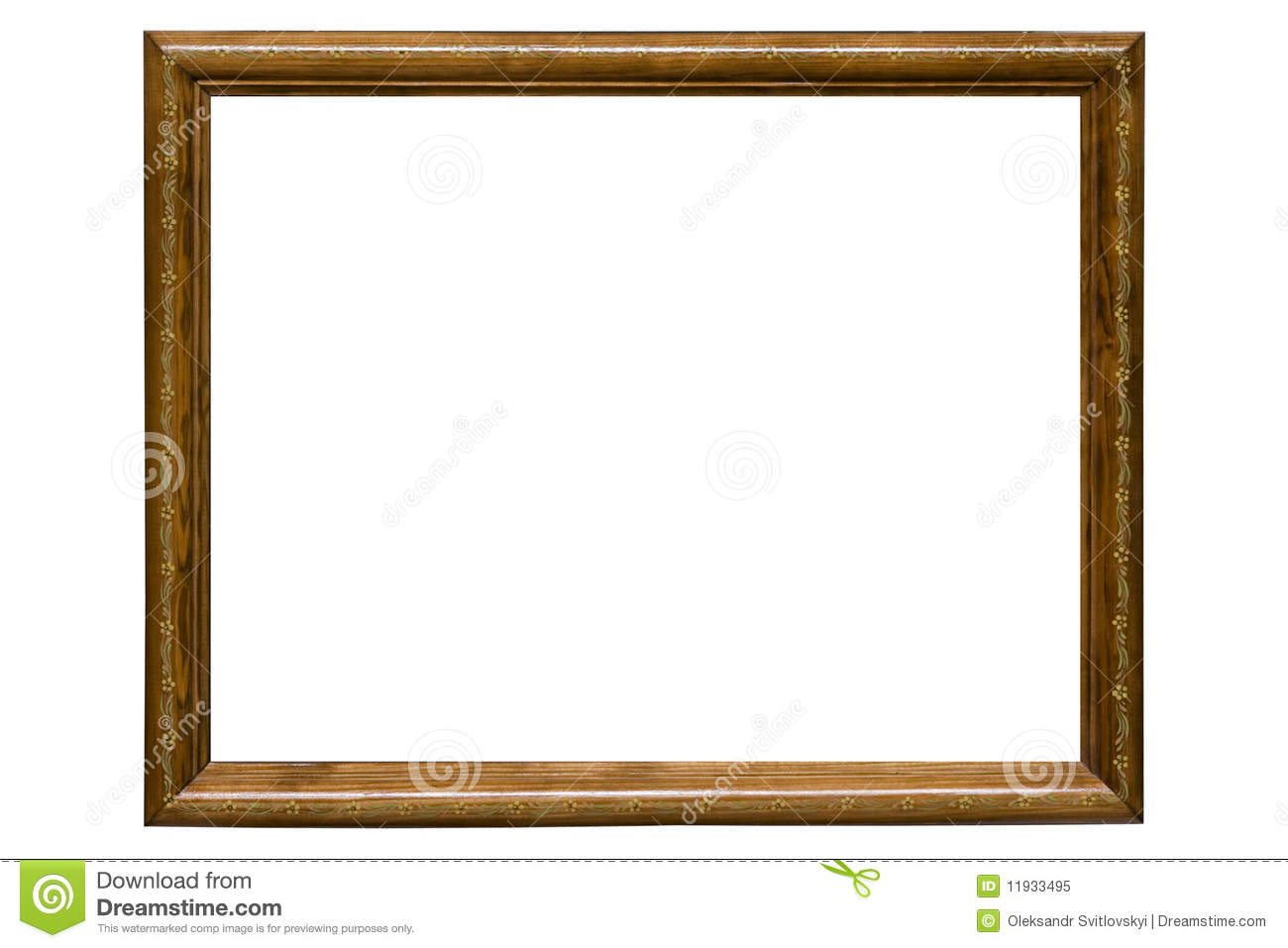 Wooden Picture Frame Royalty Free Stock Photo Image