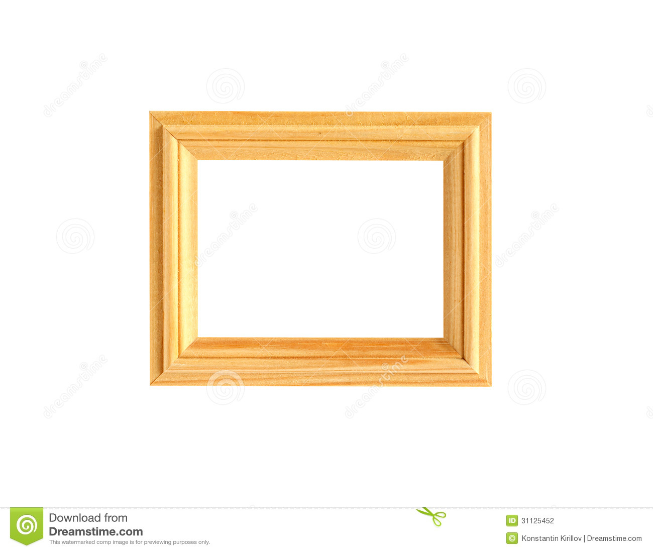 Wooden picture frame stock photography image 31125452 - White wooden picture frames ...