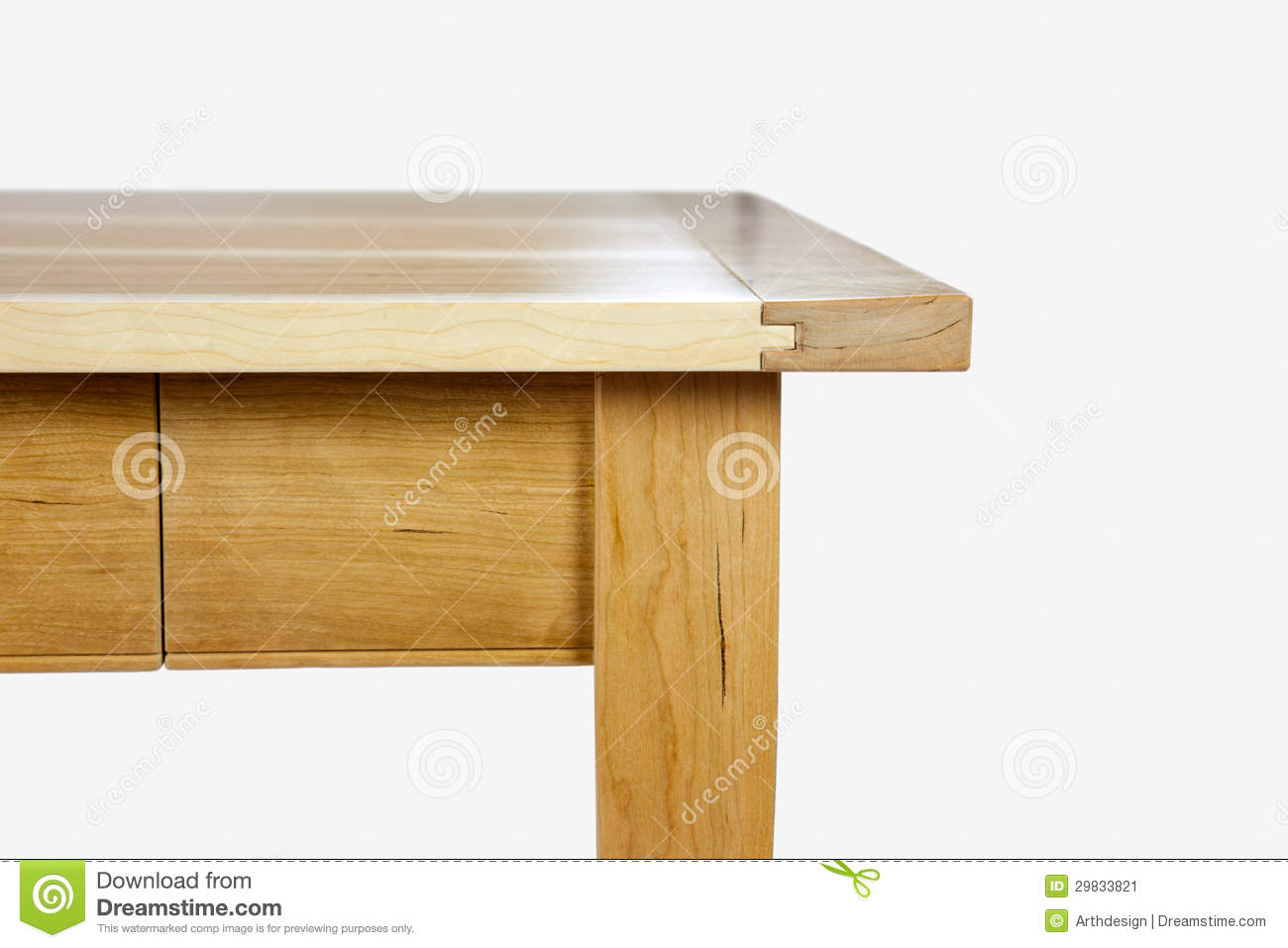 Edge Of A Table Stock Image Image 29833821