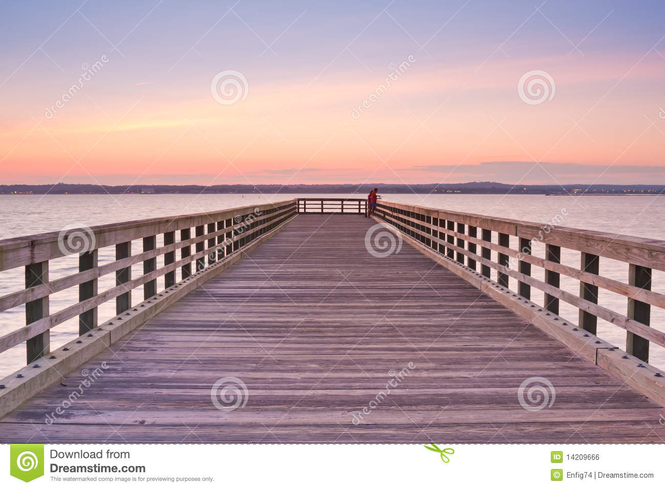 Wooden Pier at sunset