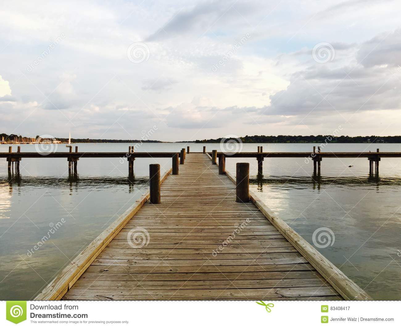 Wooden Pier, White Rock Lake, Dallas Texas