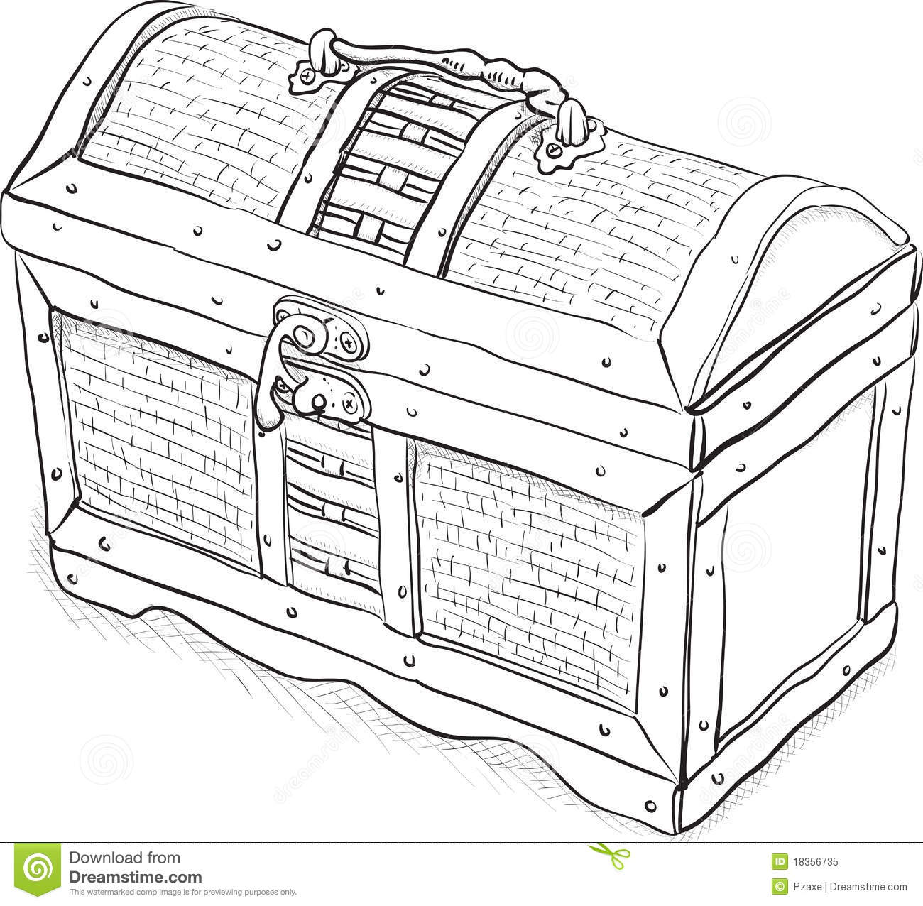 wooden pirate chest vector illustration royalty free stock photo