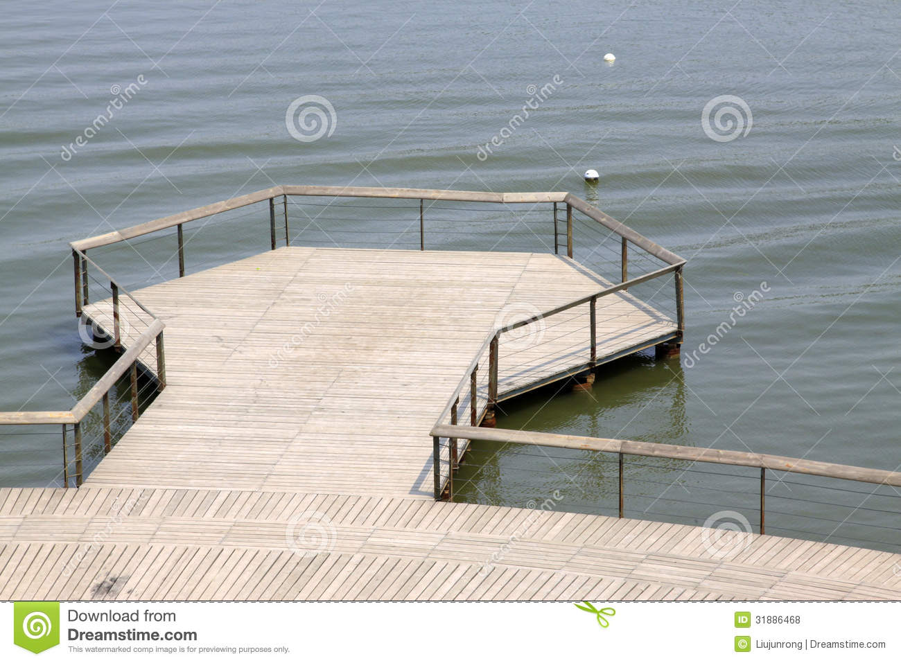 Wooden Platform On The Water Stock Photo Image 31886468