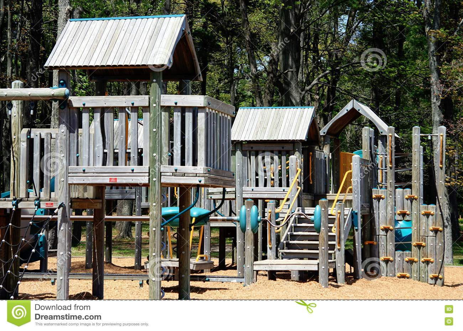 Wooden Playground Equipment Stock Image Image 14461921