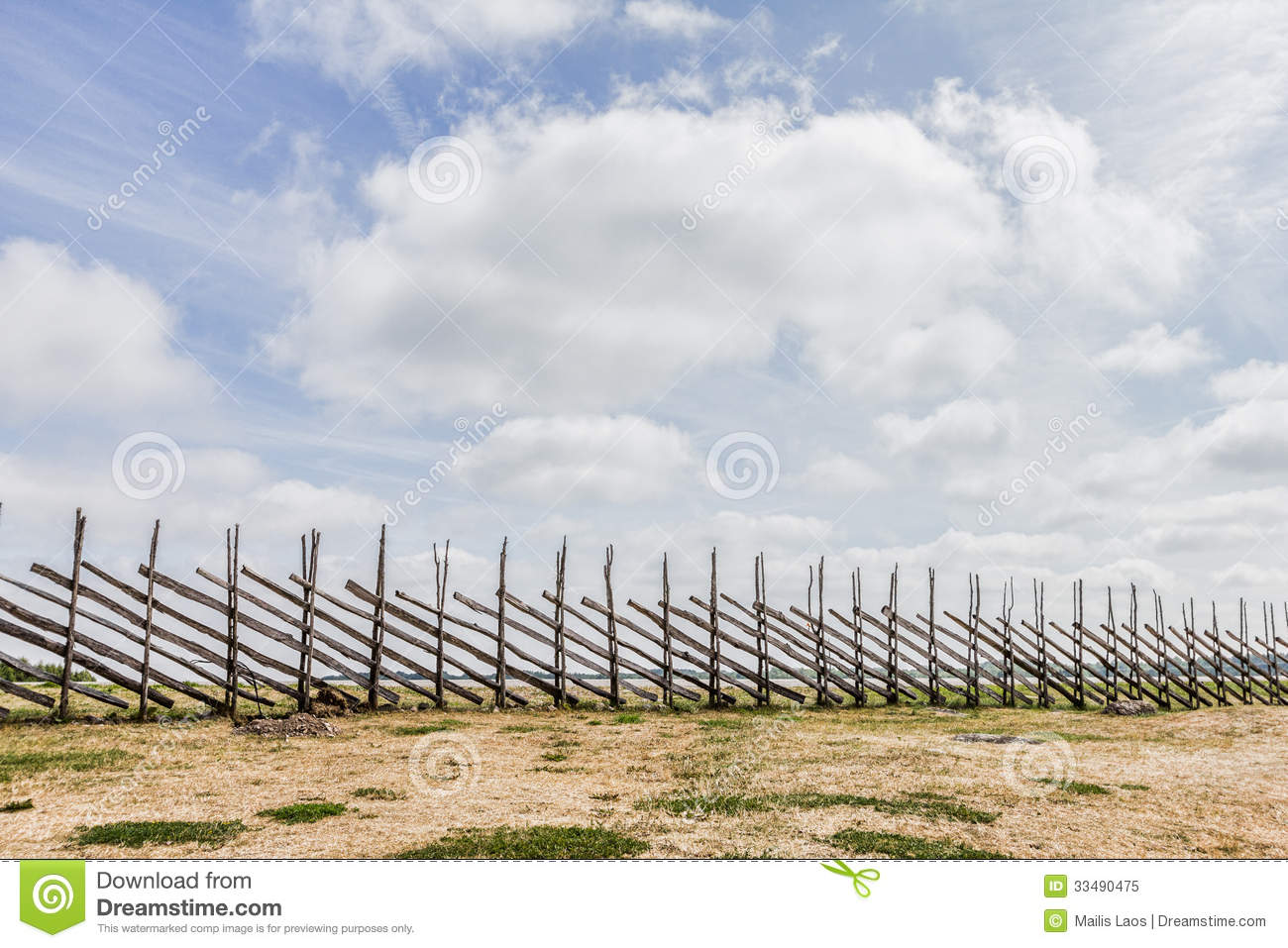 Download Wooden Pole Fence stock image. Image of countryside, landscape - 33490475