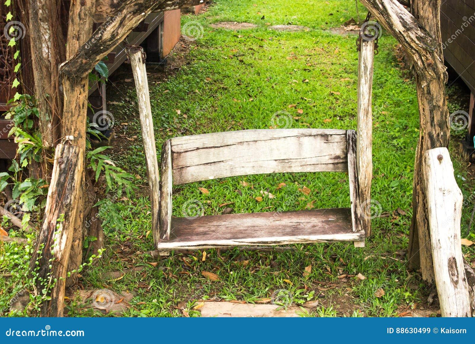 background garden porch swing wooden - Wooden Porch Swing