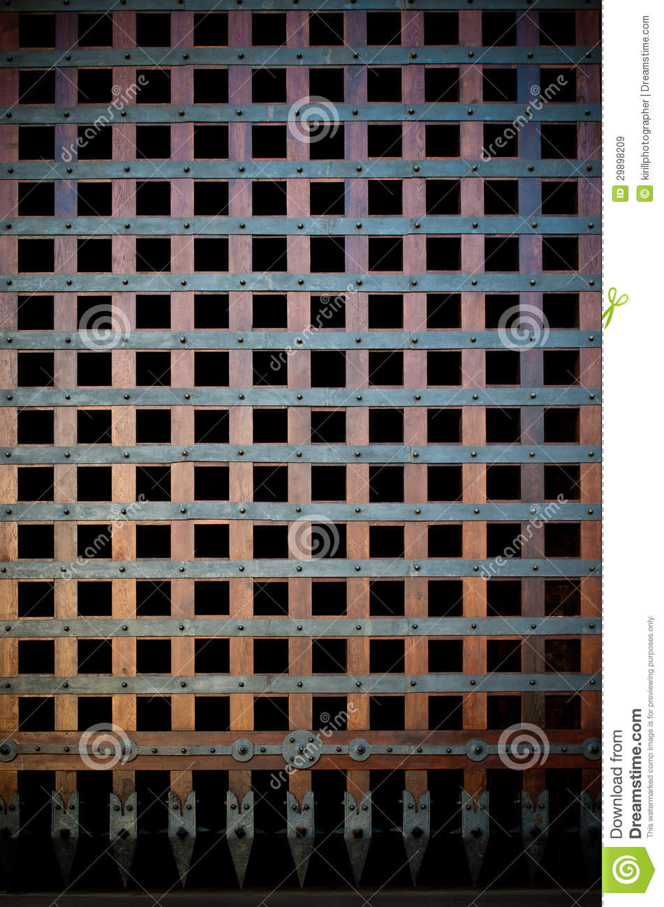 Wooden Portcullis Royalty Free Stock Images - Image: 29898209