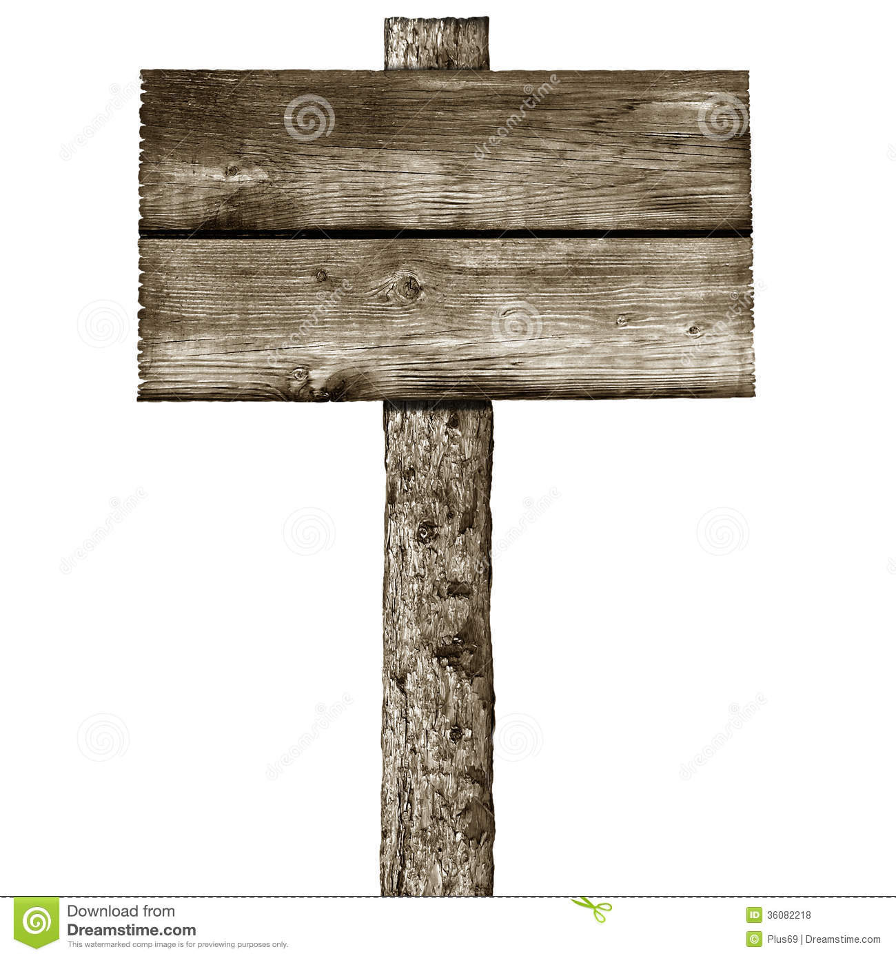 Wooden Post With Signboard Royalty Free Stock Photos