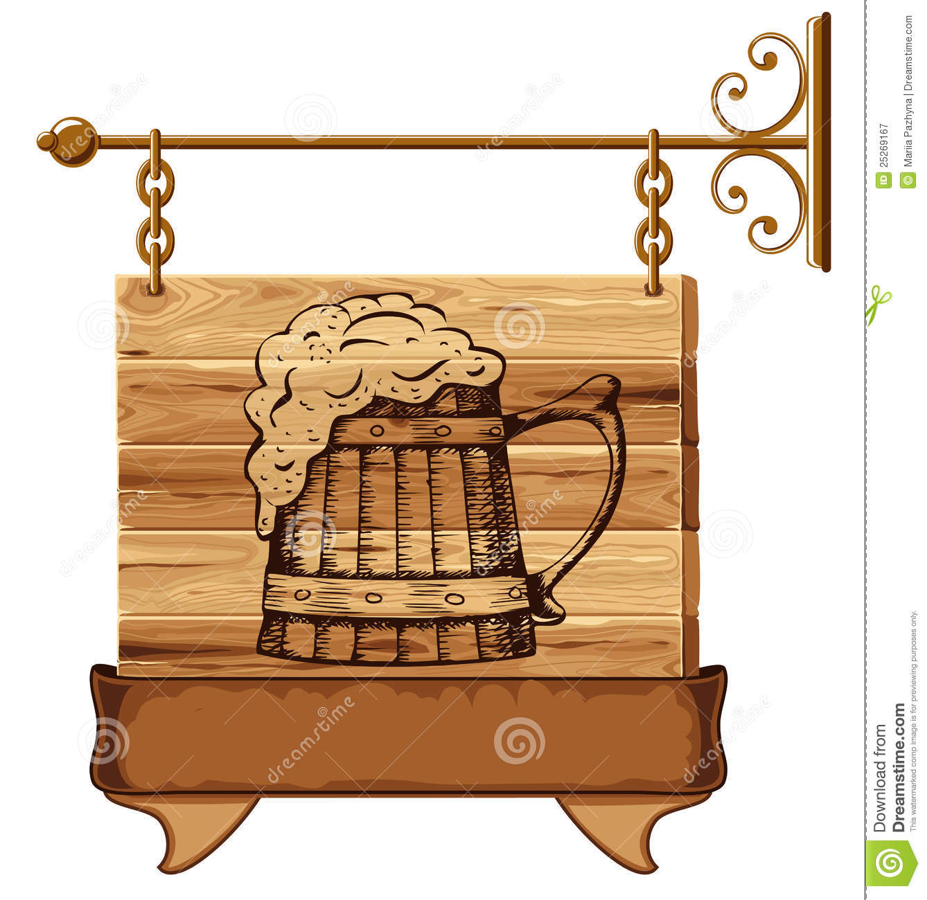 Wooden Pub Sign Royalty Free Stock Photography Image