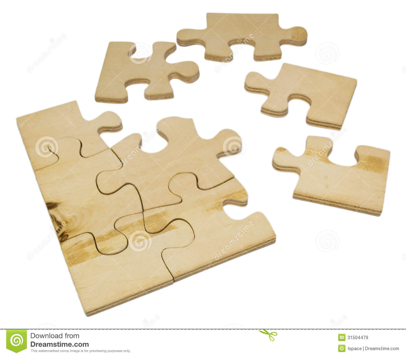 Wooden puzzle royalty free stock images image 31504479 for Puzzle cutting board plans