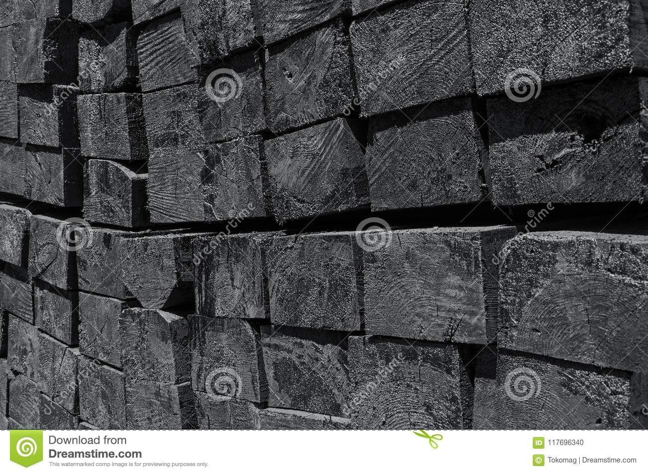 Wooden railroad tie stock photo  Image of lumber, creosote - 117696340