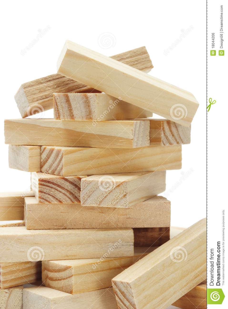 Wooden rectangular blocks royalty free stock image image for Paredes decoradas con madera