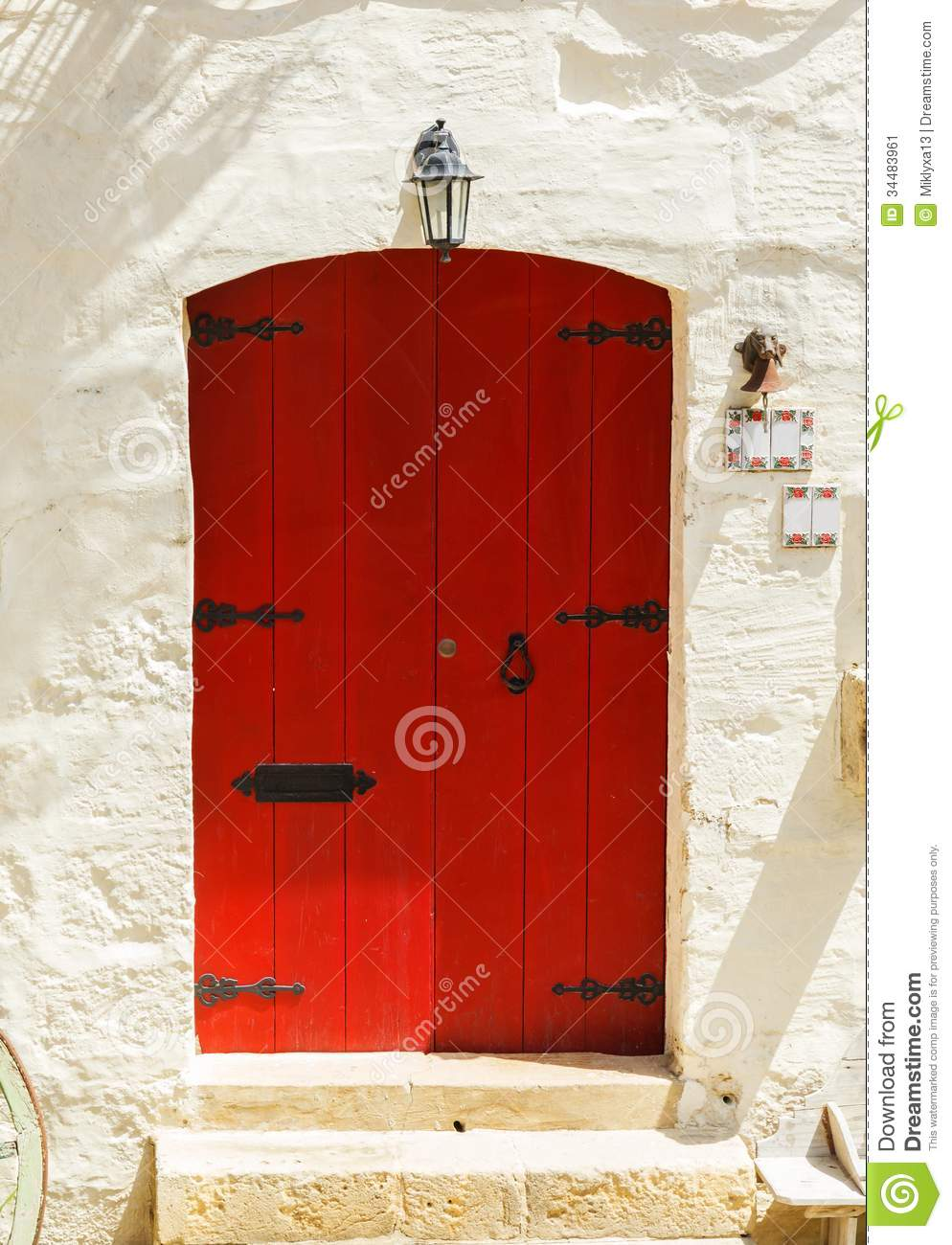 Wooden red front door to the house stock image image of brown wooden red front door to the house rubansaba