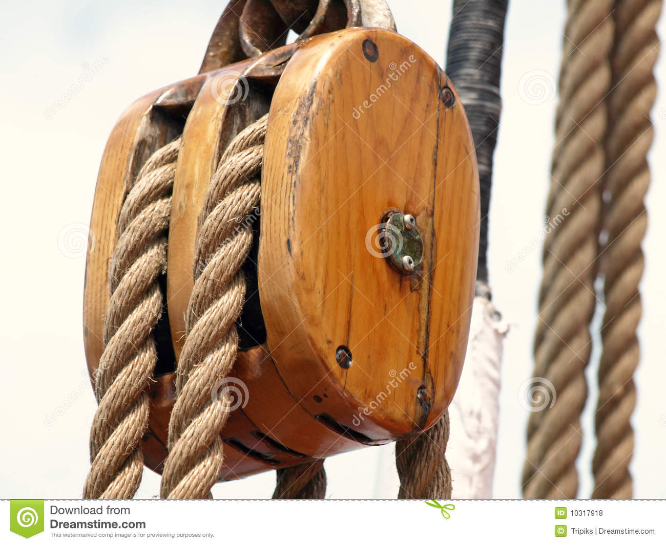 Wooden Rigging Block Royalty Free Stock Photos - Image ...