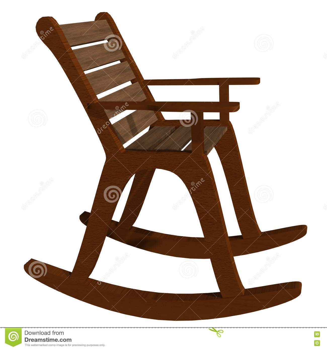 Wooden Rocking Chair Side View Stock Illustration ...