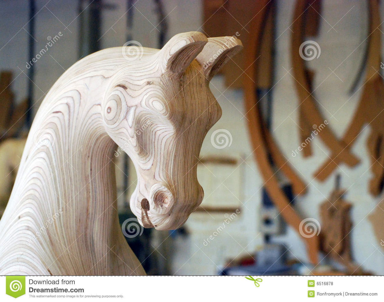 carved wooden rocking horse plans