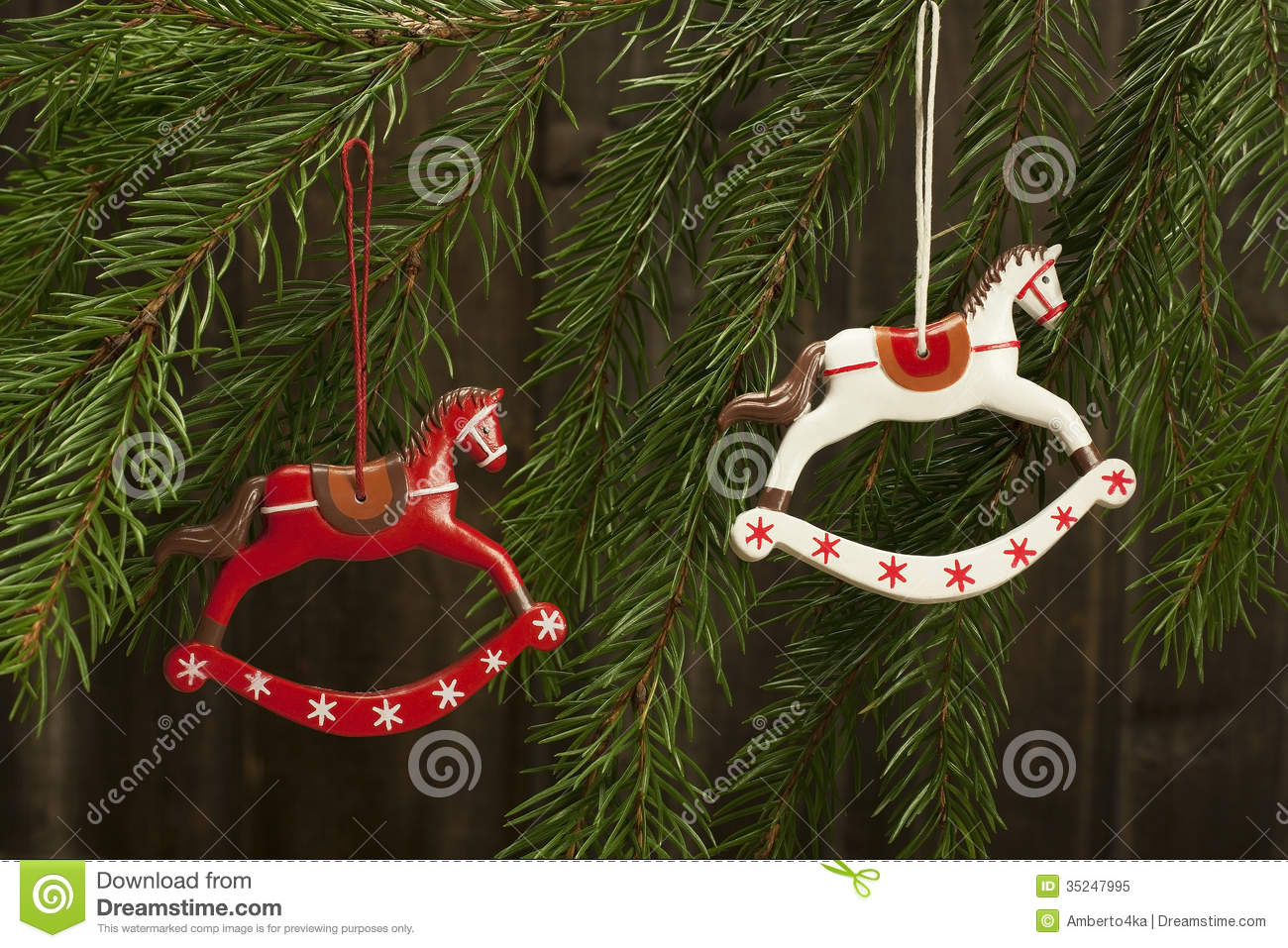 Background Christmas Decoration Horse Rocking