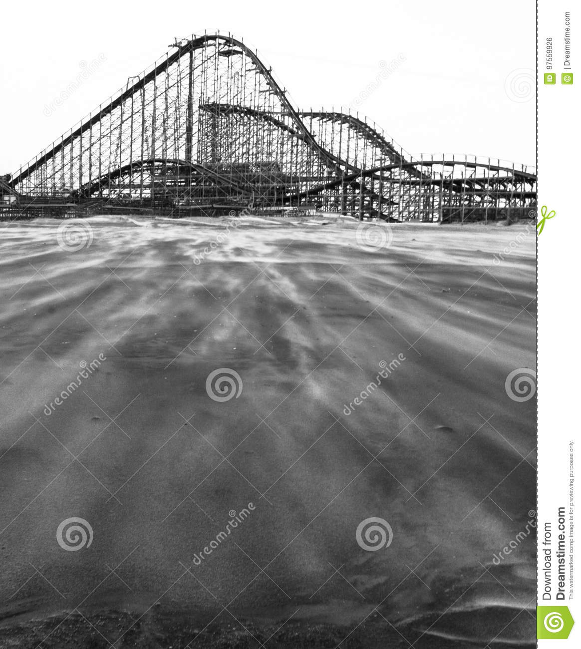 Wooden Rollercoaster at the Beach