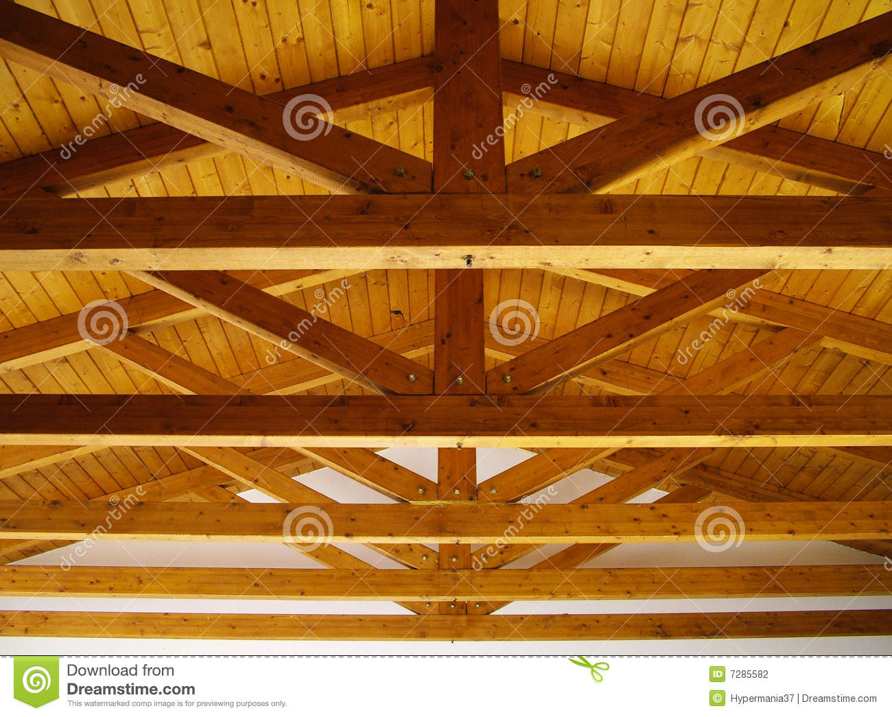 Wooden Roof Beams Stock Photo Image Of Wooden Looking
