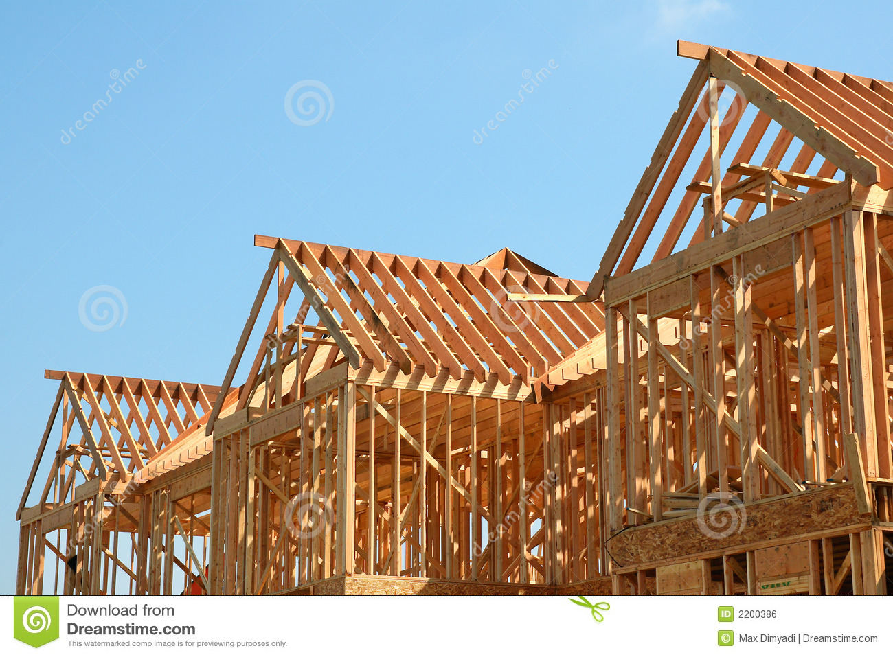 Royalty Free Stock Photo. Download Wooden Roof Frame ...