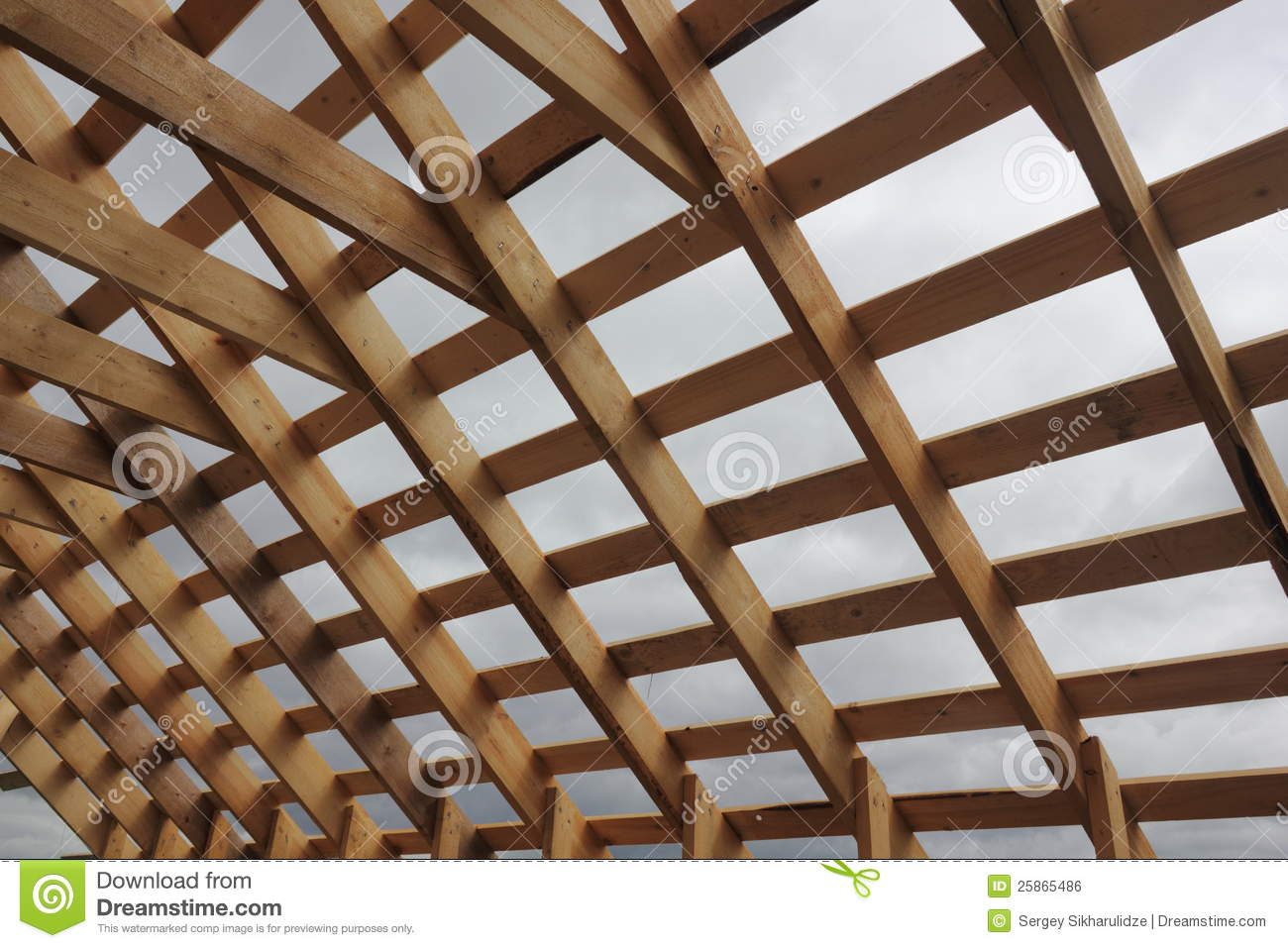 Wooden Roof Frame Royalty Free Stock Image Image 25865486
