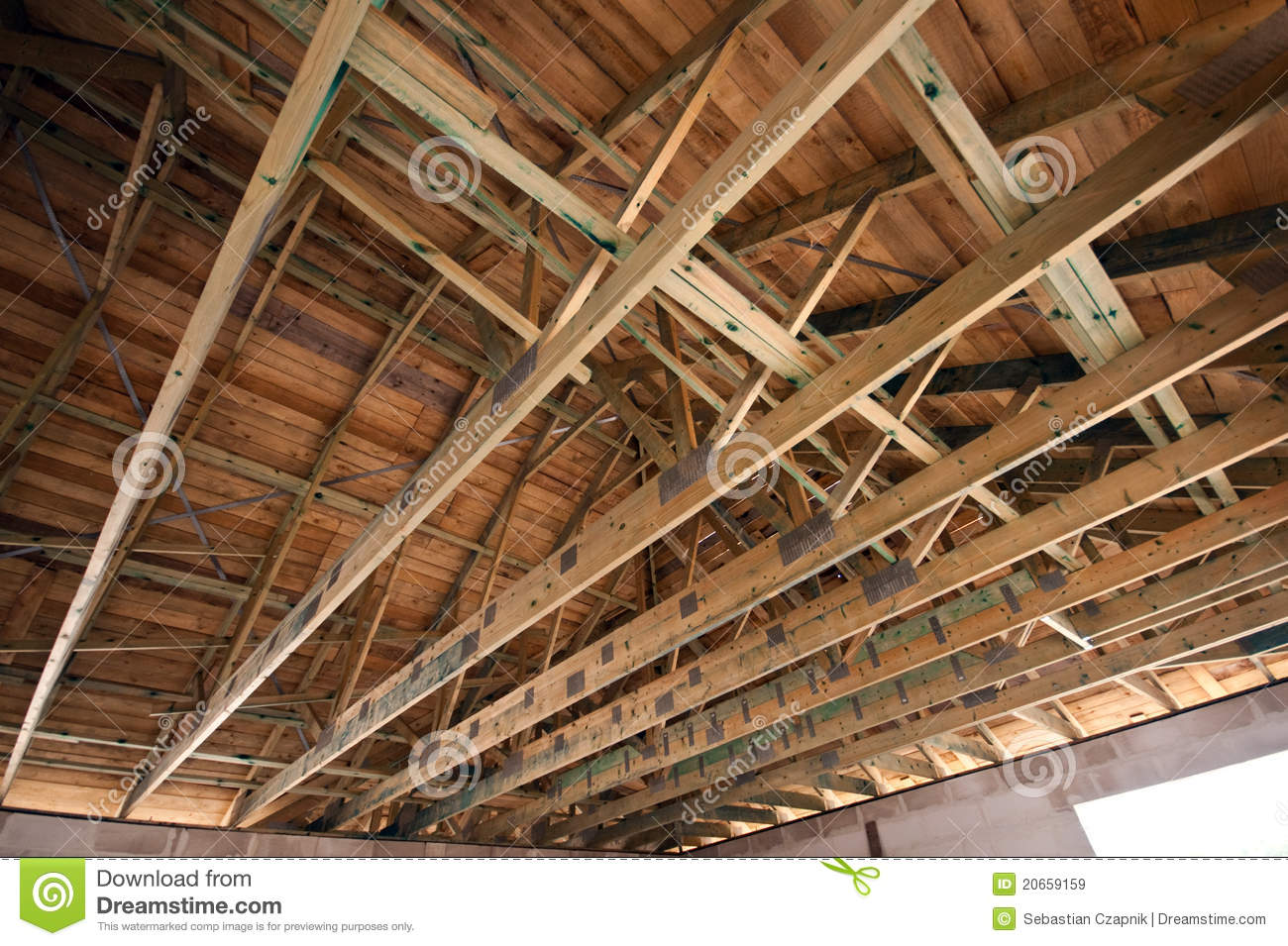 Wooden Roof Structure Royalty Free Stock Images Image