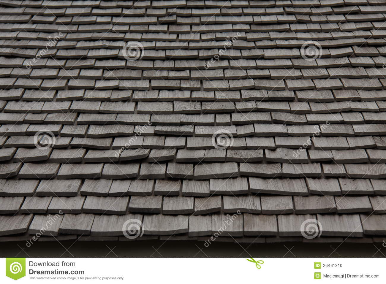 Wooden Roofing Material Texture Thatch Stock Photo