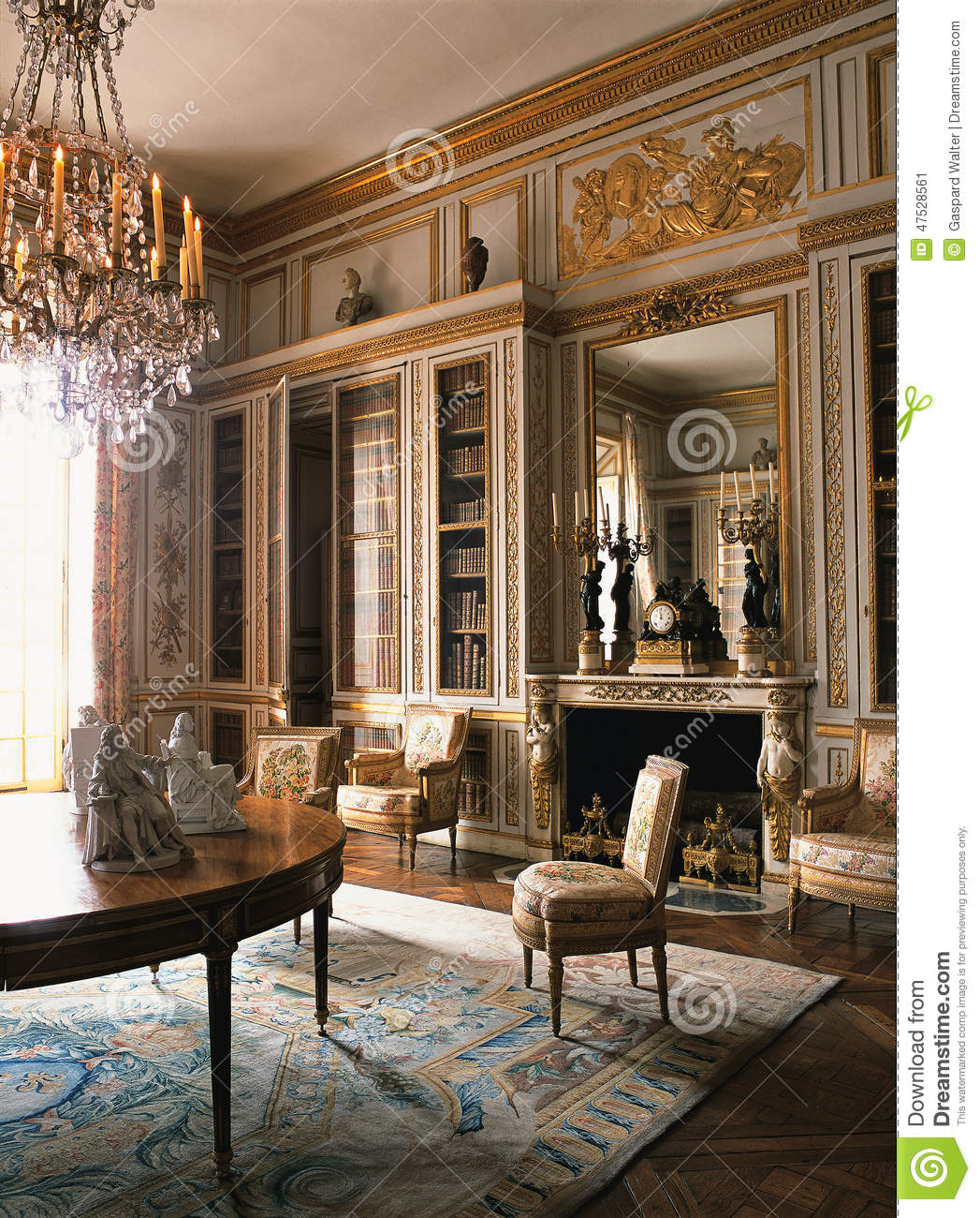 Wooden Room With Furniture At Versailles Palace France Editorial Photo Image 47528561