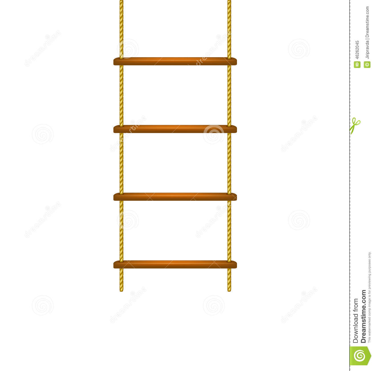 Wooden rope ladder in ...